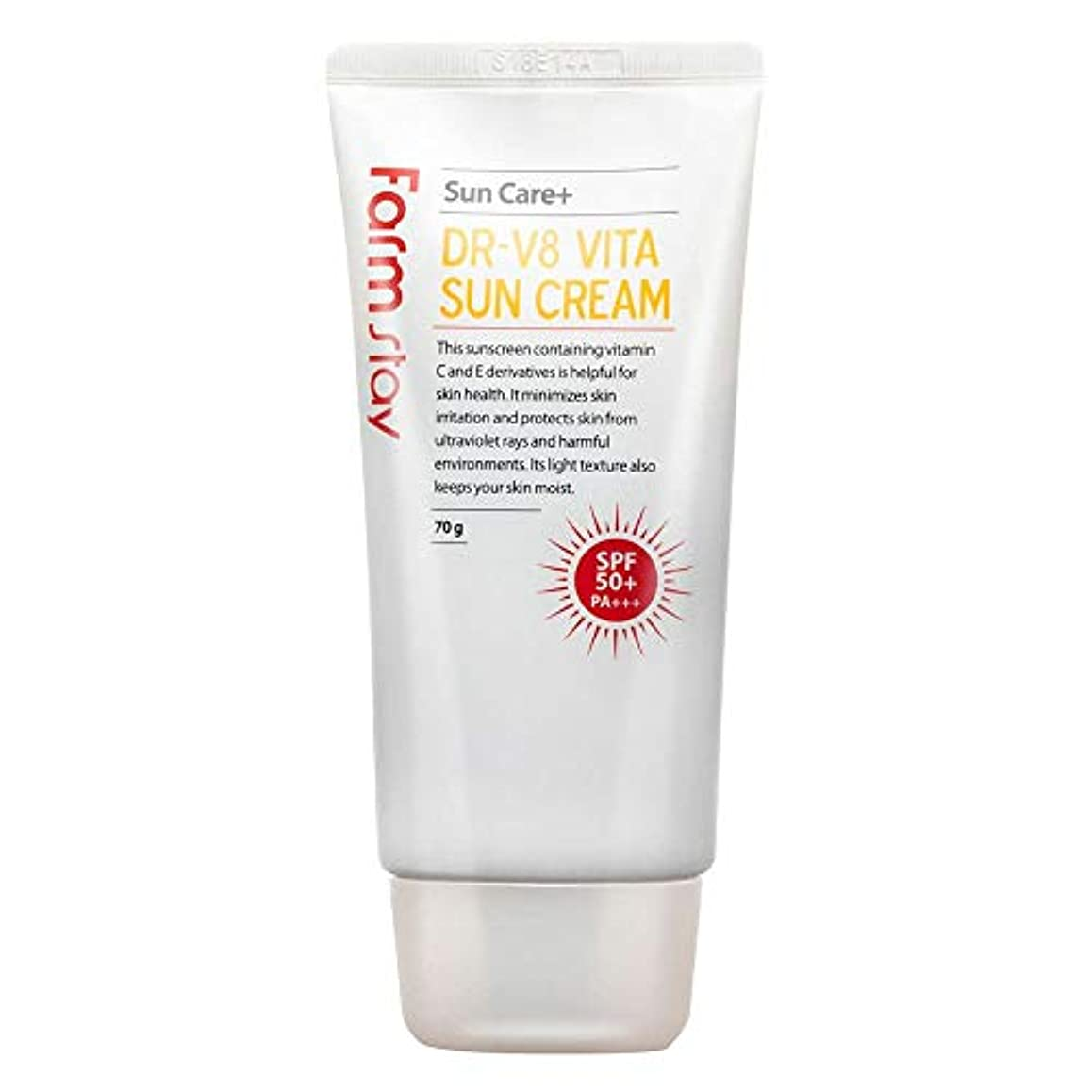 震え病者象ファームステイ[Farm Stay] DR-V8 ヴィータサンクリーム 70g (しっとりUVカット) / Vita Sun Cream