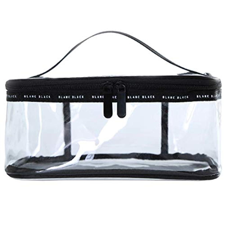 クリアボックス コスメ 収納 クリアポーチ 透明ポーチ ビニールポーチ PVC 化粧ポーチ 小物入れ 防水 (M)