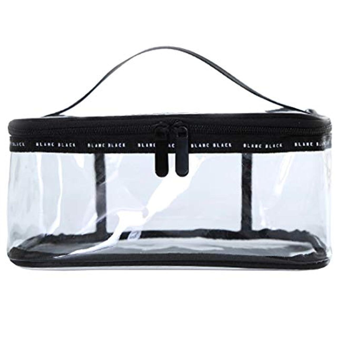 蒸発する大使思想化粧ポーチ クリアポーチ 透明ポーチ クリアボックス ビニールポーチ PVC 化粧品収納 小物入れ 防水 (M)