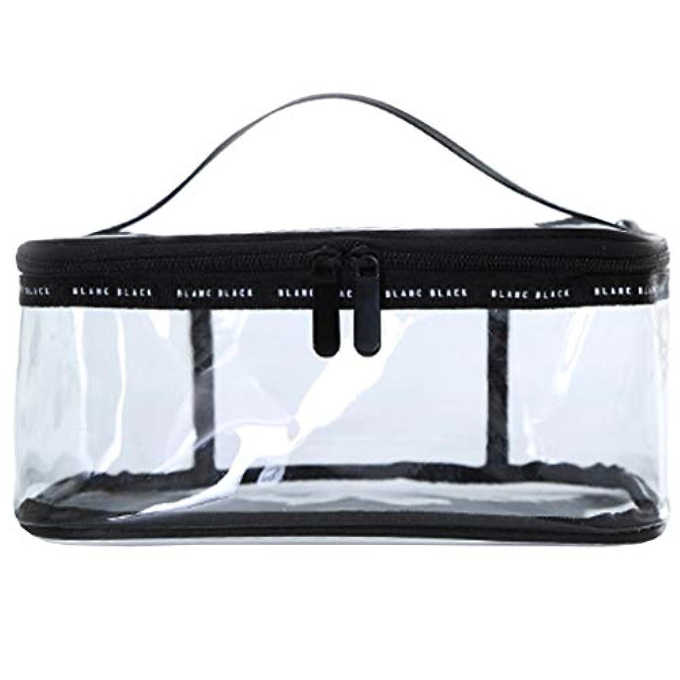 クリアボックス コスメ 収納 クリアポーチ 透明ポーチ ビニールポーチ PVC 化粧ポーチ 小物入れ 防水 (L)