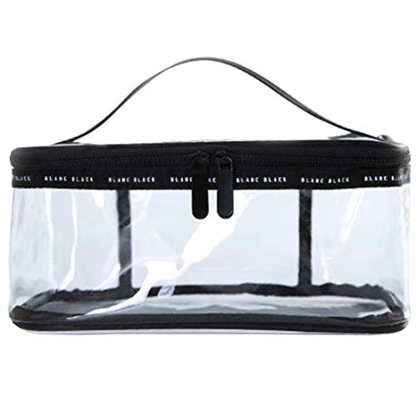 暗記する準備ができてアジテーションクリアボックス コスメ 収納 クリアポーチ 透明ポーチ ビニールポーチ PVC 化粧ポーチ 小物入れ 防水 (M)