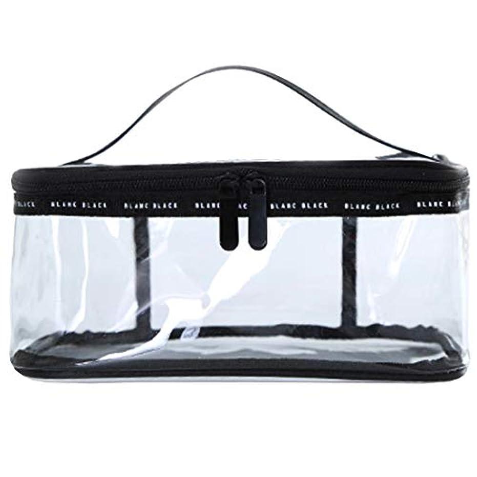 請うそよ風ホイッスル化粧ポーチ クリアポーチ 透明ポーチ クリアボックス ビニールポーチ PVC 化粧品収納 小物入れ 防水 (L)