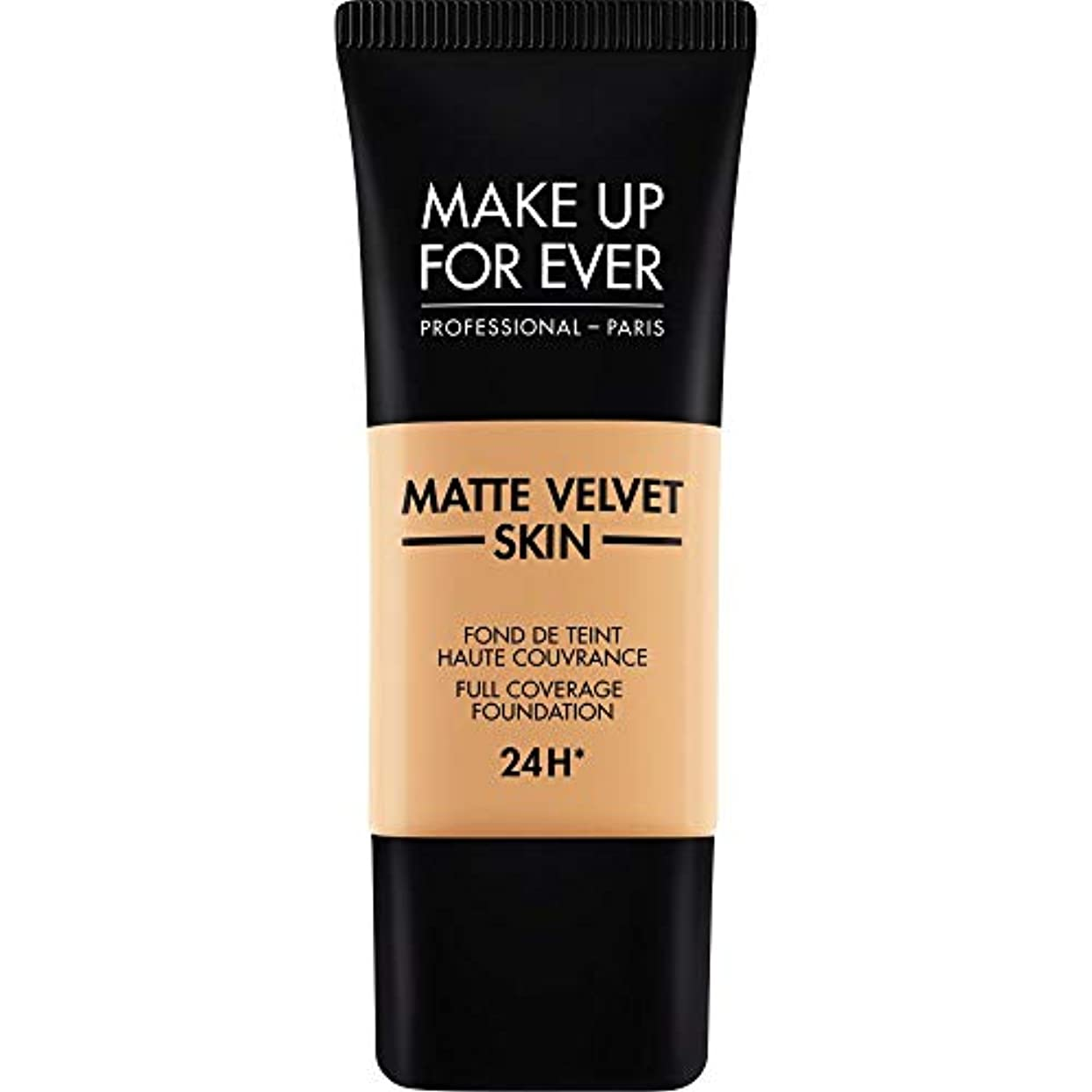 集中的な感染する危険な[MAKE UP FOR EVER ] 黄金の砂 - これまでマットベルベットの皮膚のフルカバレッジ基礎30ミリリットルのY375を補います - MAKE UP FOR EVER Matte Velvet Skin Full...
