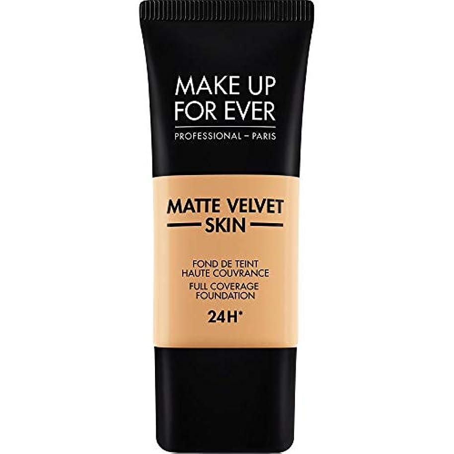 カテゴリー慈悲緩やかな[MAKE UP FOR EVER ] 黄金の砂 - これまでマットベルベットの皮膚のフルカバレッジ基礎30ミリリットルのY375を補います - MAKE UP FOR EVER Matte Velvet Skin Full...