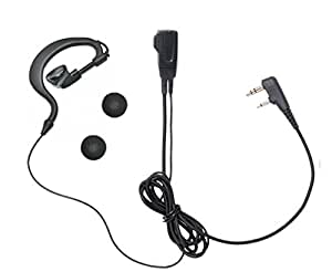 アイコム ICOM L型2ピン用 特定小電力 トランシーバー用 耳掛け式イヤホンマイクDXタイプ IC-4100 IC-4110 IC-4188D 用 HM-177L互換品