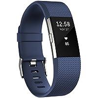 Fitbit フィットビット 活動量計 Charge2 バッテリーライフ最大5日間 睡眠ステージ記録 歩数&距離&カロリー記録 耐水性能 着信/テキスト通知 24時間心拍測定 Blue ブルー Lサイズ【日本正規品】FB407SBUL-JPN