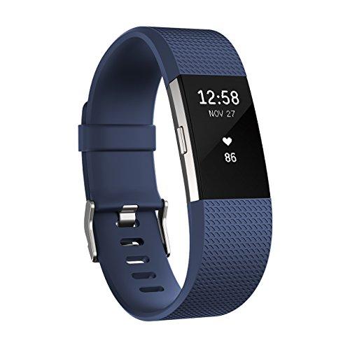 Fitbit フィットビット 心拍計 フィットネスリストバンド Charge2 心拍 睡眠 VO2max 健康管理 活動量計 アクティブトラッカー Blue ブルー Sサイズ 【日本正規品】 FB407SBUS-JPN