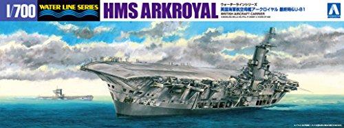 青島文化教材社 1/700 ウォーターラインシリーズ イギリス海軍 航空母艦 アークロイヤル最終時&U81 プラモデル