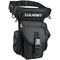 Drop Leg Utility Pouch Tactical Thigh Leg Waist Bag Pack Tool Fanny Paintball Airsoft Motorcycle Riding Versipack with Patch for Men Women Travel Fanny Pack Purse Pocket Sling Chest Shoulder Bag