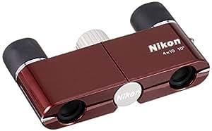 Nikon 双眼鏡 遊 4X10D CF ダハプリズム式 4倍10口径 ワインレッド 4X10DCF (日本製)