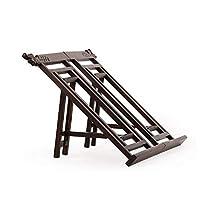 Fengshangshanghang001 ブックスタンド、調節可能なブックホルダートレイ-ポータブル頑丈な軽量-無垢材,シンプルで便利 (Color : Black)