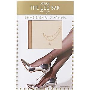 [アツギ]ATSUGI THE LEG BAR(アツギザレッグバー) サイドアンクレット柄 ストッキング ウィメンズ ヌーディベージュ - L~LL-(日本サイズ2L相当)