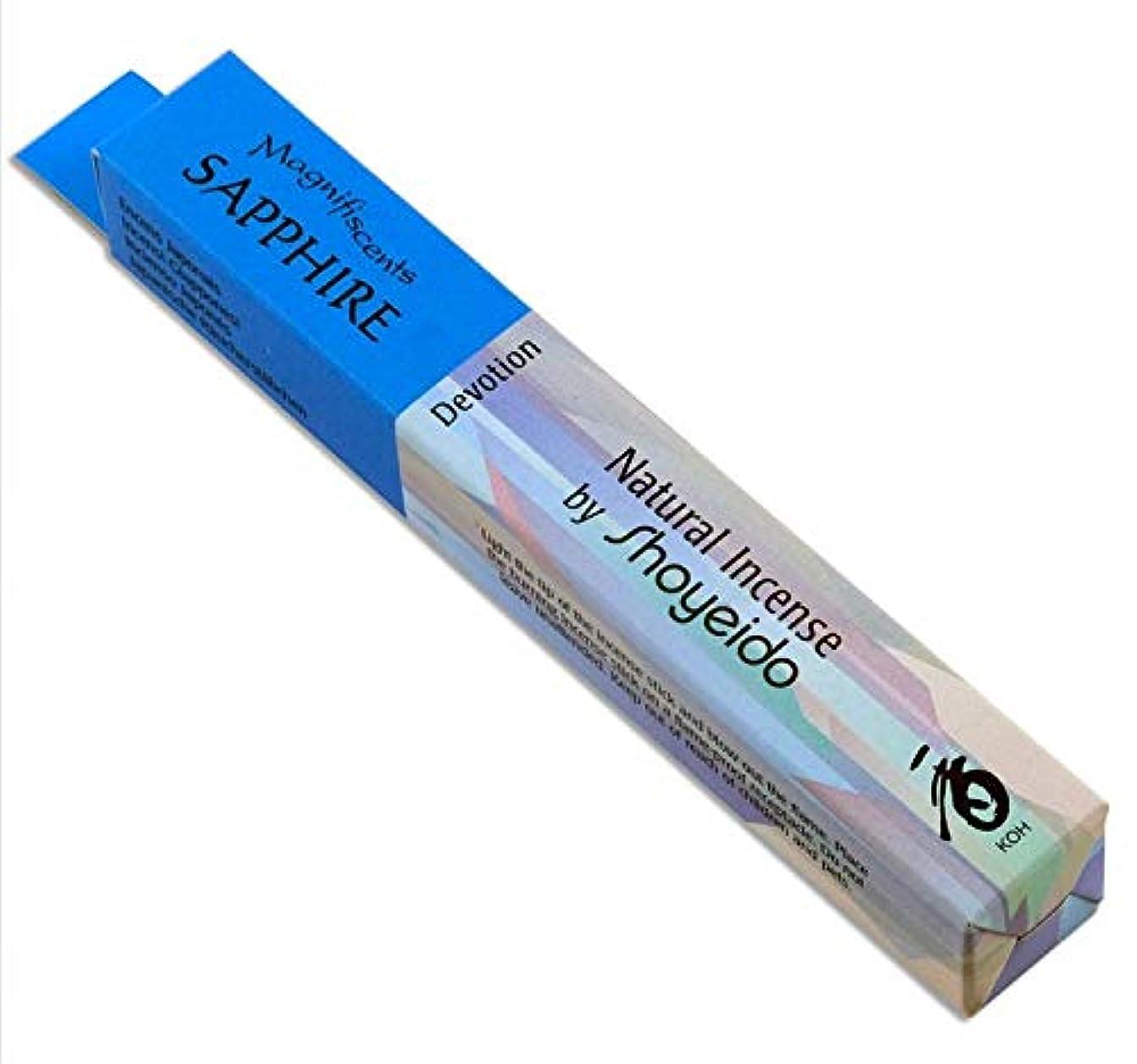 吸うジレンマ繁殖Shoyeido's Sapphire Incense, 30 sticks by SHOYEIDO