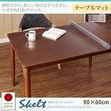IKEA・ニトリ好きに。透明ラグ・シリコンマット スケルトシリーズ【Skelt】スケルト テーブルマット 90×60cm