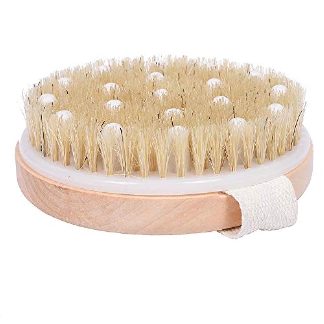 書士書士リハーサルRAYNAG ボディブラシ 浴用ブラシ マッサージ 体洗い 豚毛 ソフトビーズ 木 洗いやすい バスルーム 浴室 入浴 お風呂グッズ