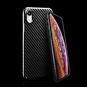 Deff(ディーフ) monCarbone HOVERKOAT for iPhone Xs ケブラー素材 アラミド繊維 超軽量 (iPhone Xs/X, ミッドナイトブラック(グロス))