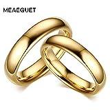 テレビ 格安Meaeguet ヴィンテージタングステンカーバイド結婚指輪カップルのための純金色恋人の婚約と操作ジュエリー4k tv 格安