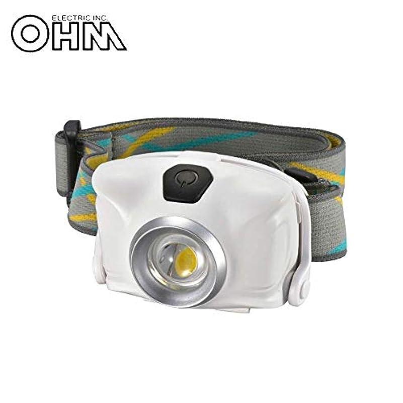 盲信大きさ博覧会OHM LEDヘッドライト ホワイト LC-SYW1-W