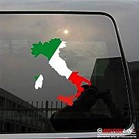 3s MOTORLINEイタリアイタリア国旗マップデカールステッカーフィットfor Fiat Ferrari Alfa Romeo車ビニールPickサイズDie Cut 4'' (10.2cm) 20180416s12