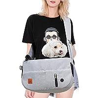 Purrpy 猫スリング 猫抱っこ紐スリングバッグ 折りたたみ可猫小型犬スリング 軽いペットスリングバッグ 旅行 通院 散步 お出かけバック グレー