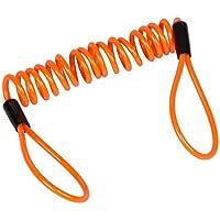 Vktech Mens Motorcycle Motorbike Disc Lock Accessories Spring Reminder Cable Minder One Size Orange