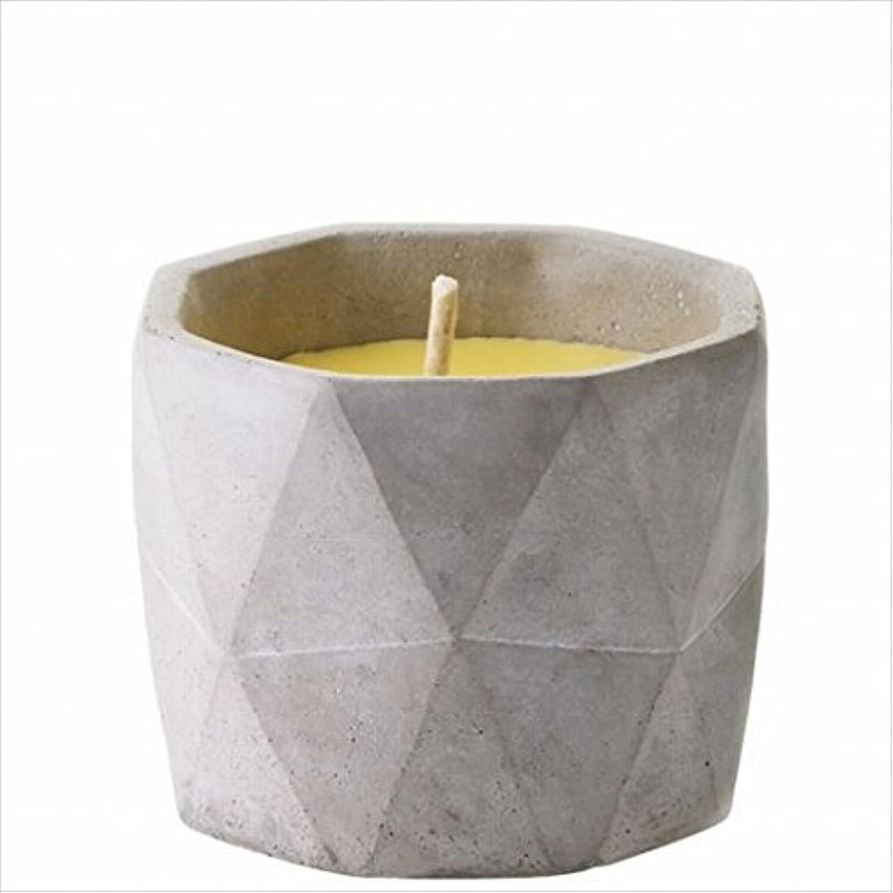 ネット地区調停者カメヤマキャンドル(kameyama candle) POiNT A LA LiGNE セメントポット シトロネラキャンドルM(屋外用)