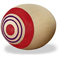 不思議なコマ 木のおもちゃ タマゴこま レッド