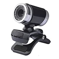 JWBOSS 480P HDウェブカメラネットワークモニターカメラ付きマイク付きコンピュータPCノートパソコンデスクトップA860-ブラック