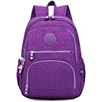 ZHANGYOUDE Backpackages School Backpackage for Teenage Girls Female Laptop Bagpackage Travel Bag, Size:27X13X37cm(Black) (Color : Light Purple)