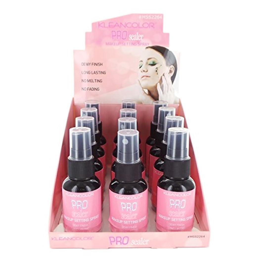 までリズム袋KLEANCOLOR Pro Sealer Makeup Setting Spray Display Set, 12 Pieces (並行輸入品)