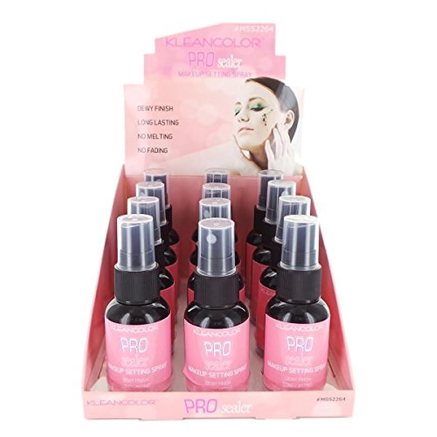 翻訳するアレルギー硫黄KLEANCOLOR Pro Sealer Makeup Setting Spray Display Set, 12 Pieces (並行輸入品)