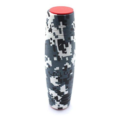 黒色 E5  Rollver Fidget Spinner Desk Flip Toy 反転棒 手遊び  おもちゃ ストレス解消 ハンドスピナー フィジェットスティック おもちゃ 知育 手目協調 集中力を高め 子供/大人に適用 (黒色 E5, 写真のように)