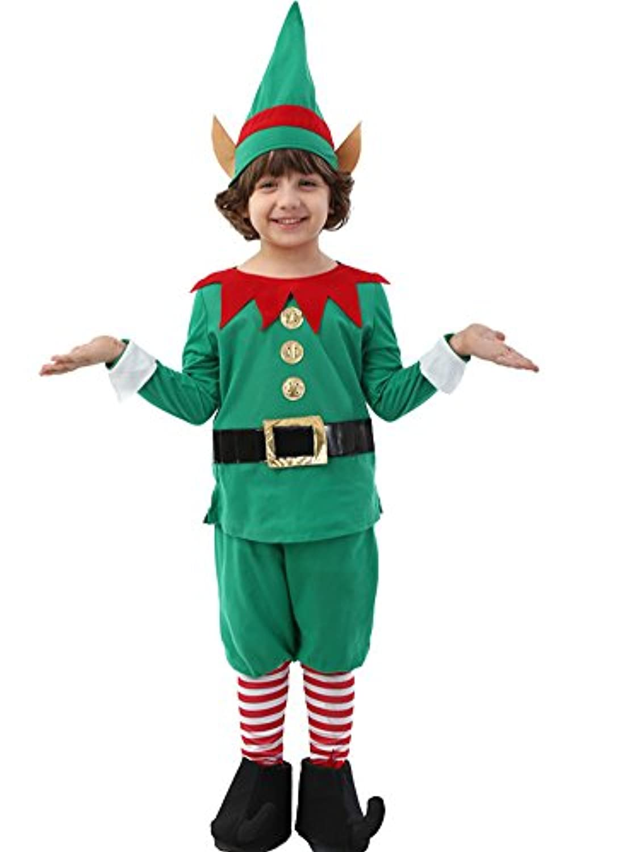 EIMEI【サンタスーツ 男児】サンタ コスプレ クリスマス 子供 衣装 男の子【上着+パンツ+帽子+靴カバー】4点セット (125cm)