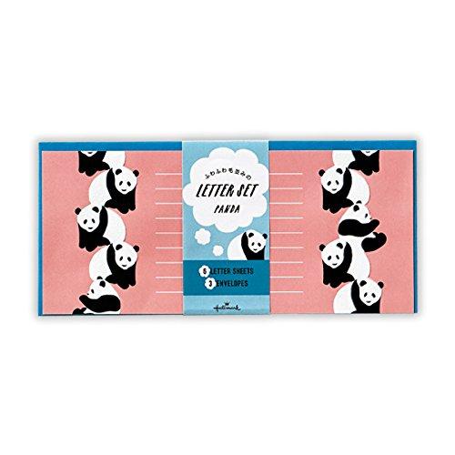 日本ホールマーク フワフワ毛並みの レターセット (739607 パンダ)