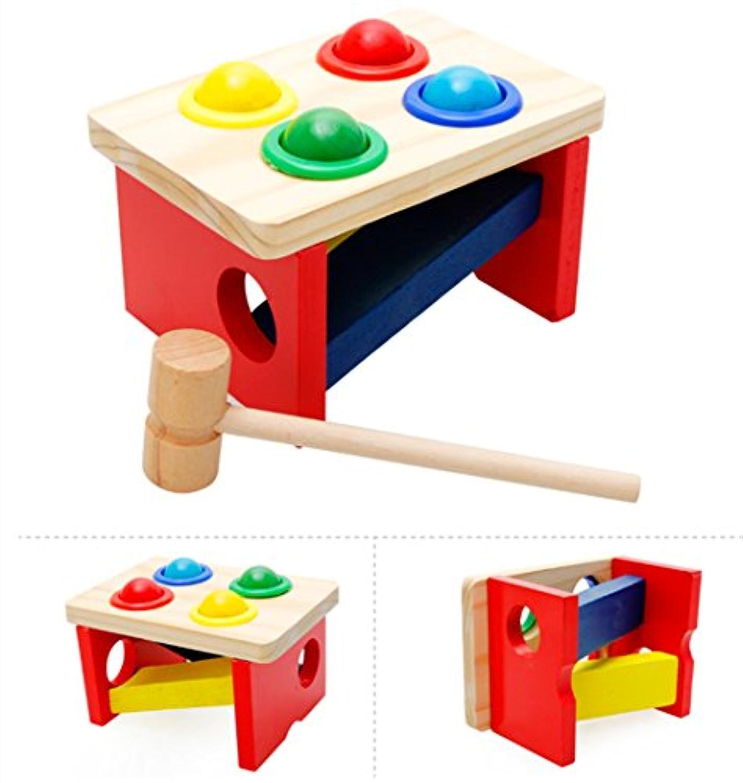 PhantomSky 木製ハンマーベンチ パウンド&タップベンチ ボール叩き 2歳からの子供向け クリスマスプレゼント