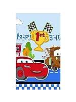 Disney 1st Birthday Cars Plastic Tablecover ディズニーの第1誕生日カーズプラスチックTablecover♪ハロウィン♪クリスマス♪