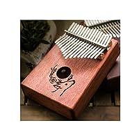 Youshangshipin001 Kalimba、17トーンミニマリストデザインサムピアノ、新しいデザインスタイルスタイル、(17トーンスタイル1、プレゼント、ピアノバッグ+チューニングハンマー) レトロスタイル (Edition : Style 1)