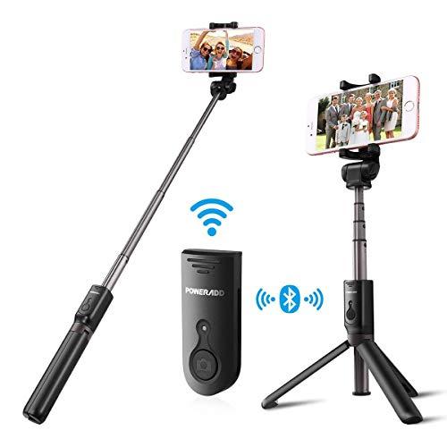 Poweradd Bluetooth 自撮り棒 セルカ棒 無線 軽量 三脚台・分離可能な ワイヤレス リモコンシャッター ボタ...