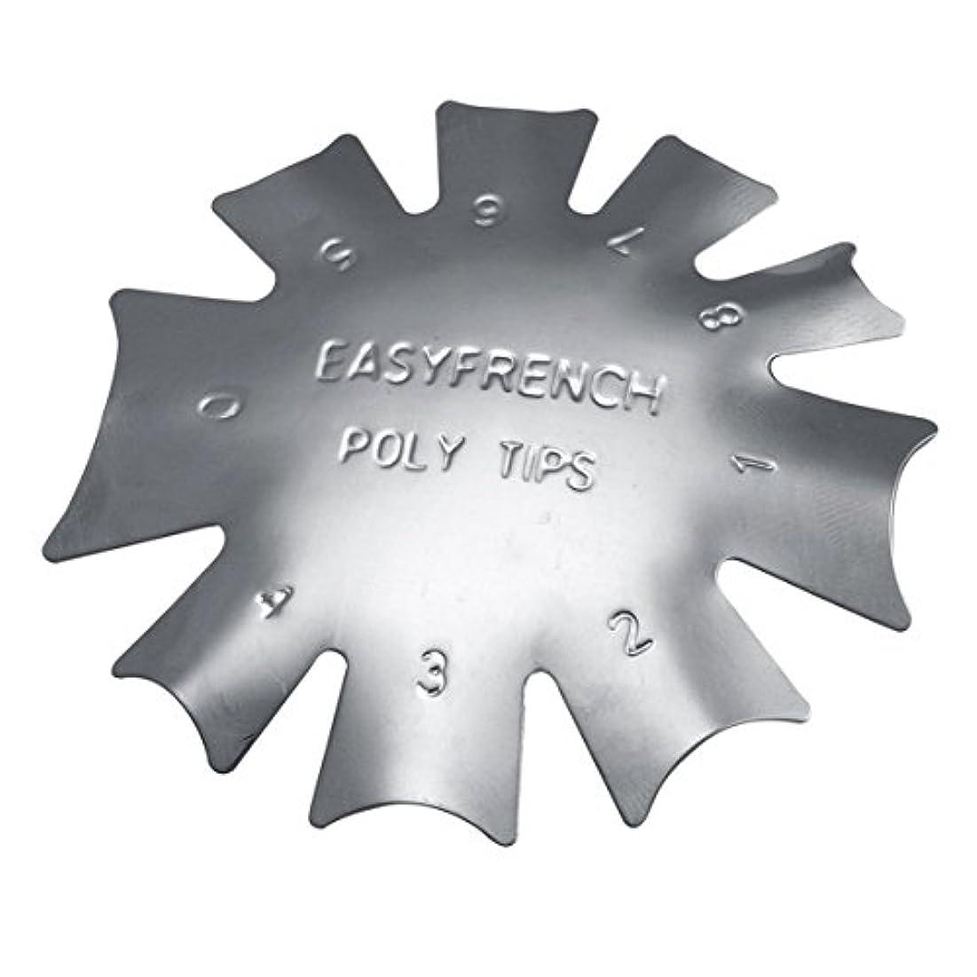 施設威信テーブル3ピース/セット丈夫な金属ステンレス鋼フレンチマニキュアモデリング整形プレートクリスタルネイル作りスタンピングプレート(シルバー)