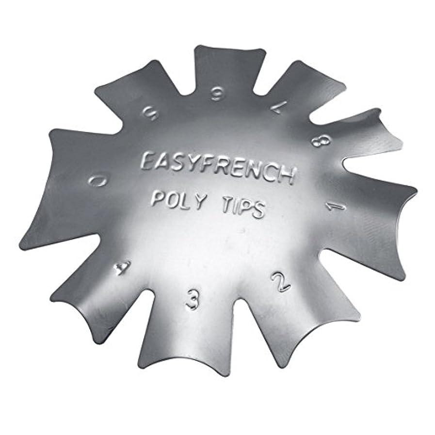 視聴者人質放射能3ピース/セット丈夫な金属ステンレス鋼フレンチマニキュアモデリング整形プレートクリスタルネイル作りスタンピングプレート(シルバー)