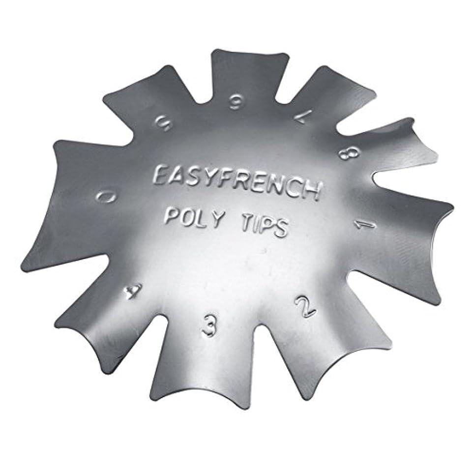 パーク教師の日かすかな3ピース/セット丈夫な金属ステンレス鋼フレンチマニキュアモデリング整形プレートクリスタルネイル作りスタンピングプレート(シルバー)