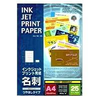 オーム電機 インクジェット用紙 名刺 A4(10面)×25枚 OIJ-NC25