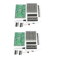 (ハイレットゴー) HiLetgo MAX7219 ドットマトリックスモジュール DIYキット MCUコントロール ディスプレイモジュール Arduino用 2個パック