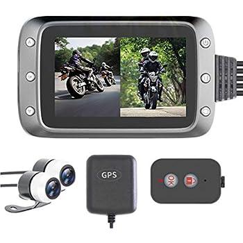 ニコマク 2019最新版 バイク ドライブレコーダー 前後カメラ 防水カメラ usb対応 GPS対応 1080P HD ループ録画 WDR 高画質 全日本信号灯対応 リモコン付き GPS受信機付き 200万画素 1080P 防水 常時録画 Gセンサー 140°広角