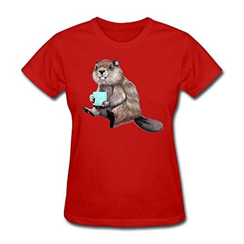 流れ星 リスさん 人気 可愛い コットン レディース Tシャツ 半袖
