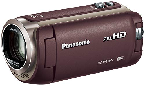 パナソニック HDビデオカメラ W580M 32GB サブカメラ搭載 高倍率90倍ズーム ブラウン HC-W580M-T