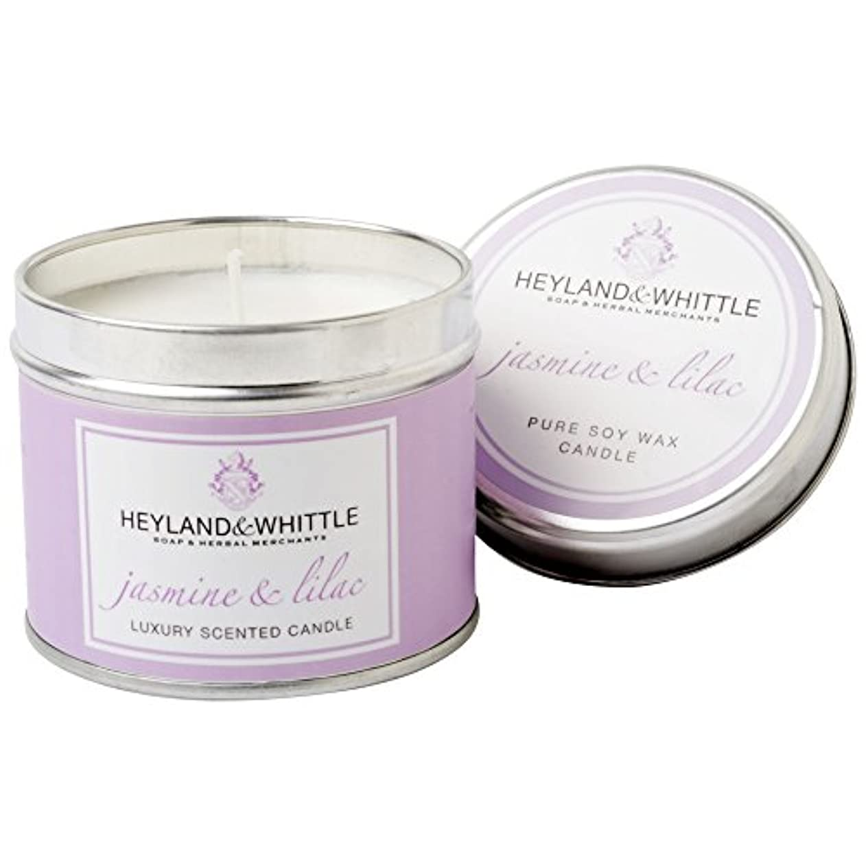 うなり声麻酔薬子供っぽいHeyland&削るジャスミン&ライラックキャンドルスズ (Heyland & Whittle) - Heyland & Whittle Jasmine & Lilac Candle Tin [並行輸入品]