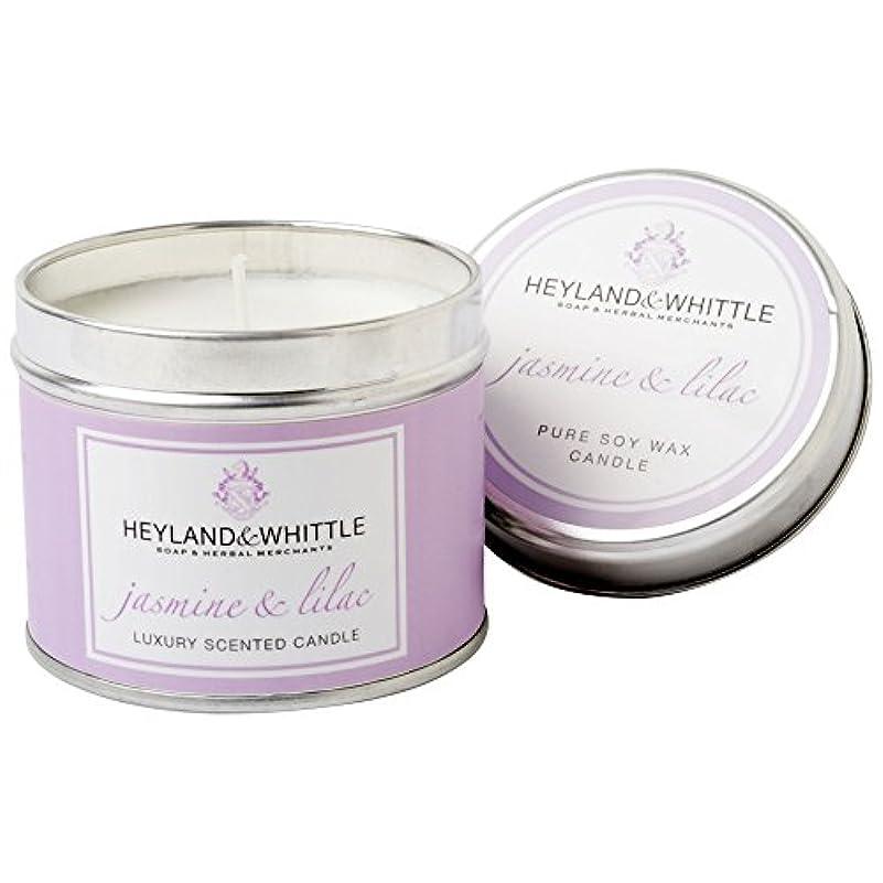 剃る取り除く創傷Heyland & Whittle Jasmine & Lilac Candle Tin (Pack of 6) - Heyland&削るジャスミン&ライラックキャンドルスズ (Heyland & Whittle) (x6...