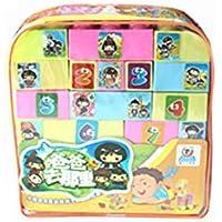 QXMEI 子供向けおもちゃ 子供向け積み木 教育玩具 バラエティビルディングブロック バックパック おもちゃ。製品サイズ: 9.8インチ 9.6インチ 3.1インチ。 02170