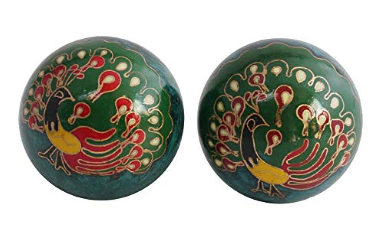 情熱的のぞき穴武器(展示品)風水 健身球(けんしんきゅう)健康玉 太極球